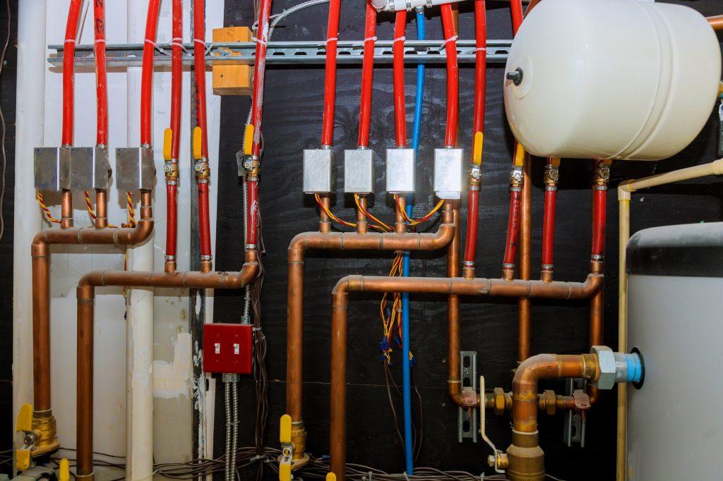 Main boiler piping